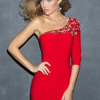 Night Moves 7045 One Sleeve Cocktail Dress