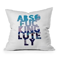 Leah Flores Absolutely 2 Throw Pillow