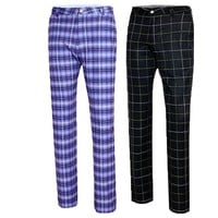 Golf Apparel Golf Pants Men'S Autumn High Elastic Trousers Plaid Quick Dry Thin Men Trousers Plus Size  XXS-XXXL 4 Colors D0488