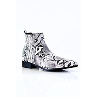 Snake Skin Pointed Toe Bootie (Sale)