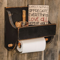 Rustic Paper Towel Holder