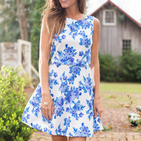 All Day Soiree Dress, Blue