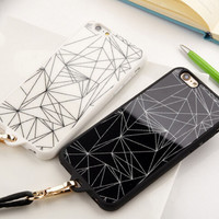 Fashion Geometry iPhone 5s 6 6s Plus creative case Cover