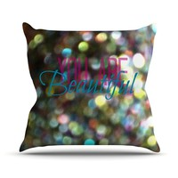 "Robin Dickinson ""You Are Beautiful II"" Art Object Throw Pillow - Outlet Item"