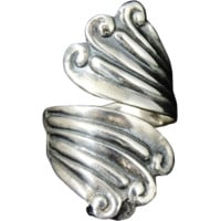 Modernist TAXCO Sterling Silver Wrapped RING