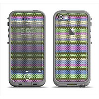 The Colorful Knit Pattern Apple iPhone 5c LifeProof Fre Case Skin Set