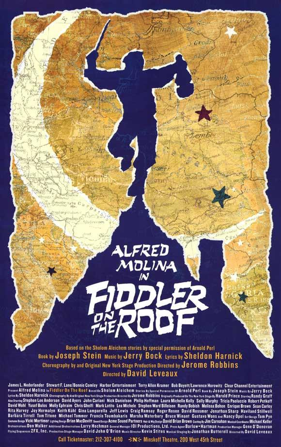 Image of Fiddler on the Roof 11x17 Broadway Show Poster