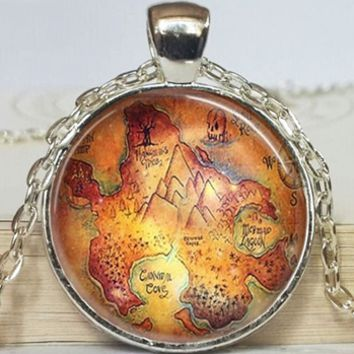 Neverland Map Necklace