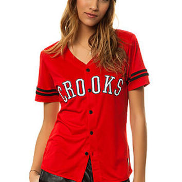 The Athletica Baseball Jersey in Red (Exclusive)