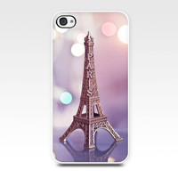 iphone 5 5s case iphone 4 4s paris Eiffel tower photo case photography case pastel pink mini Eiffel tower smartphone case cell phone girly