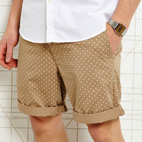 Shore Leave Polka Dot Shorts in Tan at Urban Outfitters