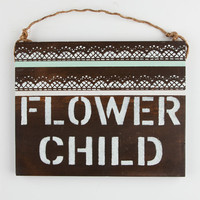 Flower Child Sign Natural One Size For Women 25292442301