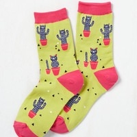 Prickle Me Pink Socks | Mod Retro Vintage Socks | ModCloth.com