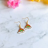 Tiny Rainbow Earrings