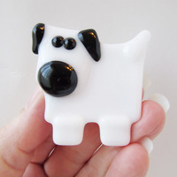 Dog Magnet - Dog Lover Gift - Fused Glass Magnet - Refrigerator Magnet - Gift Under 10 - Fridge Magnet - Pet Lover Gift - Stocking Stuffer