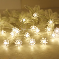 20-LED 86.6inch Battery Operated Christmas Wedding Flower Shape String Lamp Fairy Lights = 1932593668