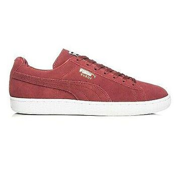 Puma Suede Classic + Cabernet White Team Gold 356568 81 Mens Sneakers Size 9