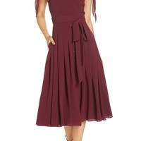 Gal Meets Glam Collection Bette Pleated Midi Dress (Nordstrom Exclusive)   Nordstrom