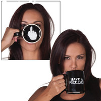 Free Shipping 1Piece Ceramic Middle Finger Coffee Cups Personality Office Gifts Have A Nice Day Mug