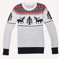 Christmas deer thick long-sleeved sweater BBBC