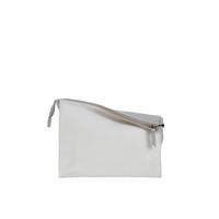 10018 Infinity Power Clutch: Cloud and White Calfskin