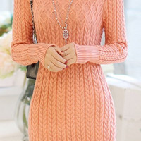 Pink Sweater Dress