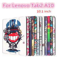 Tab 2 A10 30 Colorful Print Leather Case Cover for Lenovo Tab 2 a10-30 X30F X30L Tablet 10.1 inch Magnet Case tb2-x30l +films