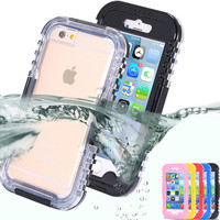 6S Plus Waterproof Transparent Clear Case For iphone 6 6S/6 Plus 7 7 Plus Swimming Diving Hard Full Cover For iPhone 6S 7 7 Plus
