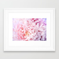 Peony Flower Photography, Pink Peony Floral Art Print Nursery Decor A happy life - Peonies 3 Framed Art Print by aba2life