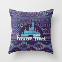 forever young Throw Pillow by Sara Eshak