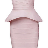 Alley Nude Two-Piece Bandage Dress