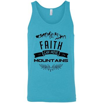 "Christian Clothing - ""Faith Can Move Mountains"" Men's Tank Tops"