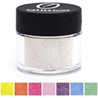 """Icy Mint - White Cosmetic Grade Glitter Powder, Ultra Fine Loose (.006"""") Safe for Skin! Perfect for Makeup, Body Tattoos, Face, Hair, Lips, Soap, Lotion, & Nail Art - Made in the USA! (10 Gram Jars)"""