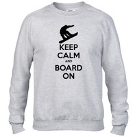 keep Calm Snowboard Crewneck sweatshirt