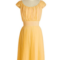 ModCloth Long Sleeveless A-line Walking by the Water Dress