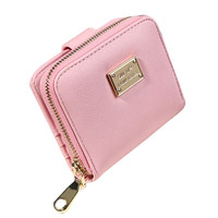 Fashion  Clutch Wallet Lady Women Leather Purse Short Small Bag For womens solid color Card Holder