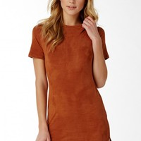 Gentle Touch Suede Mini Dress