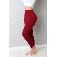 My Favorite  Leggings Ever Burgundy