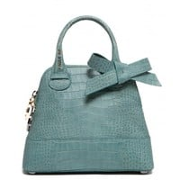 PAULE KA : Bag in crocodile print calfskin leather