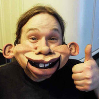 Professional human Ventriloquist Comedian Magician Puppet talking mouth Mask