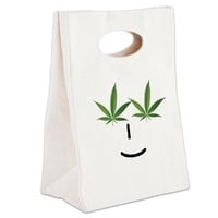 Pot Head Emote Canvas Lunch Tote> The Pot Head Emote> 420 Gear Stop