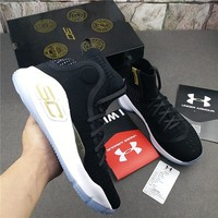 """Under Armour Curry 4 """"Black"""" Basketball Shoes"""