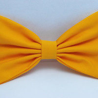Artisans Gold Hair Bow Clip - Adults Hair Clips Yellow Gold Fabric Bow Yellow fabric bows for kids hair bows for women bows for teens