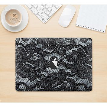 """The Black Lace Texture Skin Kit for the 12"""" Apple MacBook (A1534)"""