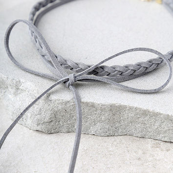 Steadfast Gold and Grey Wrap Necklace