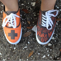 Ed Sheeran Shoes Custom by OnTheOtherFoot on Etsy