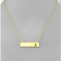 Raise the Bar Initial Necklace