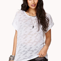 Tribal-Inspired Burnout Tee