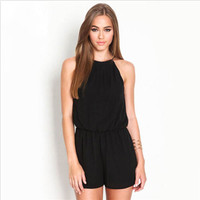 Sexy Women Black Sleeveless Bodycon Backless Jumpsuit Romper Trousers Clubwear