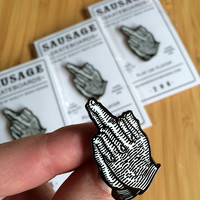Praying Finger Hard Enamel Lapel Pin